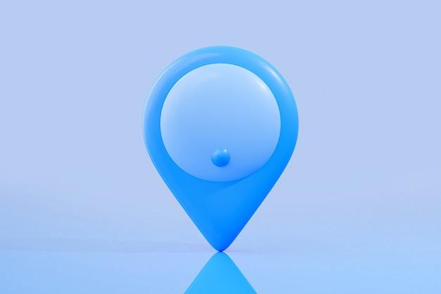 Pin map blaue farbe mit clipping-pfad.