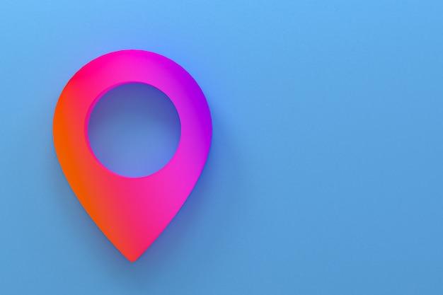 Pin-symbol minimales logo 3d-rendering