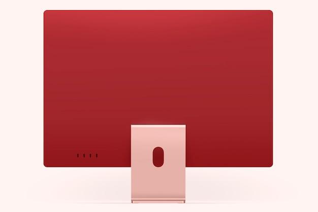Pinkes, feminines computer-desktop-digitalgerät mit designraum