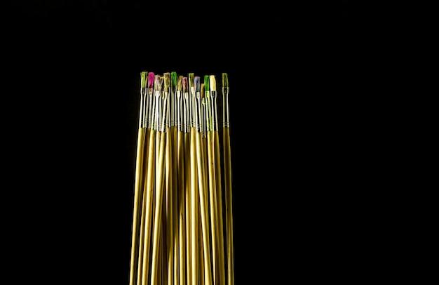 Pinsel in verschiedenen farben