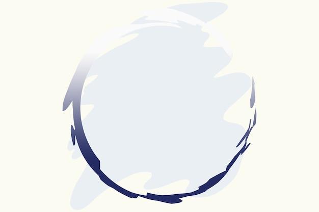 Pinselförmige pastellblau färbt abstrakte logo-hintergrund-illustration mit blauem kreis