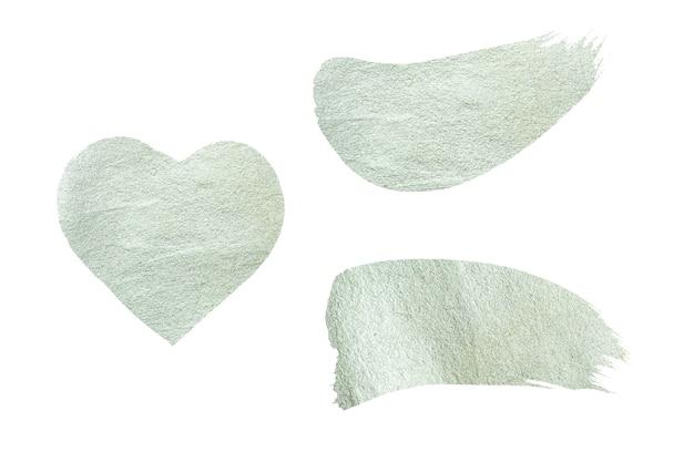Pinselstrich in silber. abstrakte silberne glitzernde strukturierte kunstillustration.