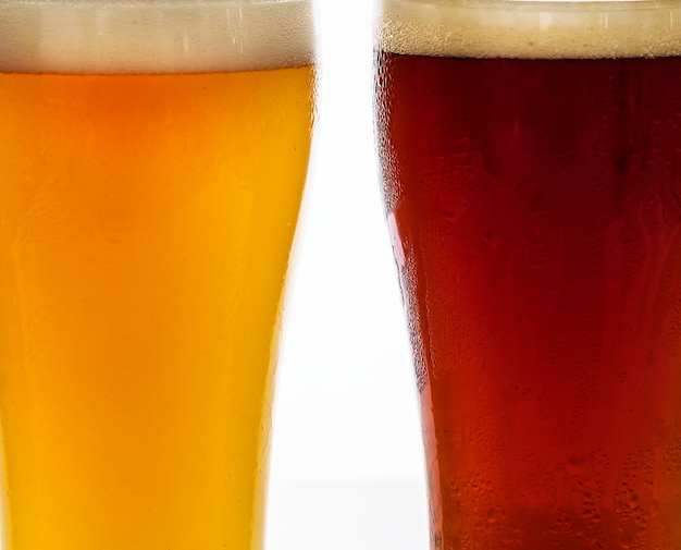 Pints bier vom fass makrofotografie