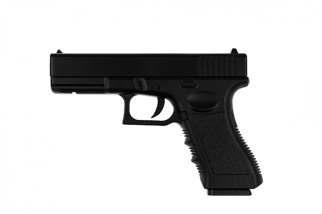 Pistole getrennt auf weißem hintergrund
