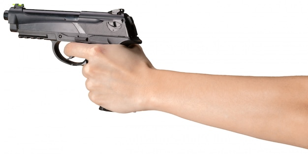 Pistole isoliert