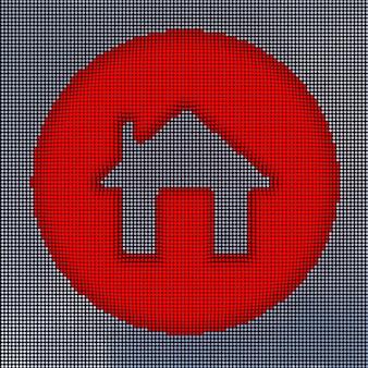 Pixel art style home. 3d-rendering