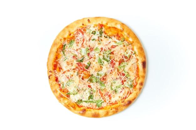 Pizza auf isoliertem weiß