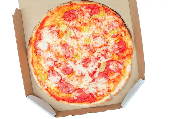 Pizza im kasten getrennt