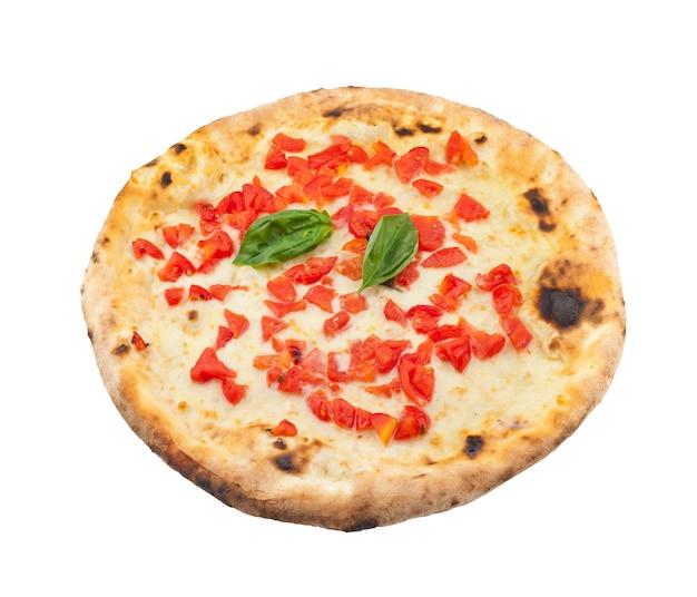 Pizzaregina auf weißem hintergrund