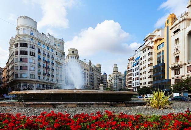 Placa del ajuntament in valencia, spanien