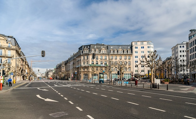 Place de paris in der stadt luxemburg