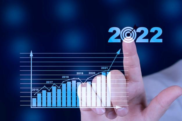 Pläne zur steigerung des geschäftswachstums und erhöhung der indikatoren für ein positives wachstum im jahr 2022
