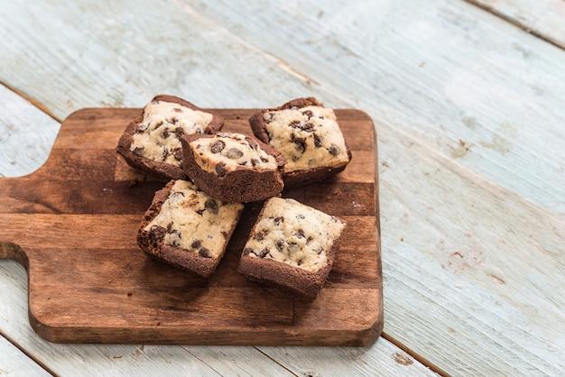 Plätzchen-brownie der schokolade handgemacht
