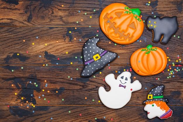 Plätzchen für halloween-party