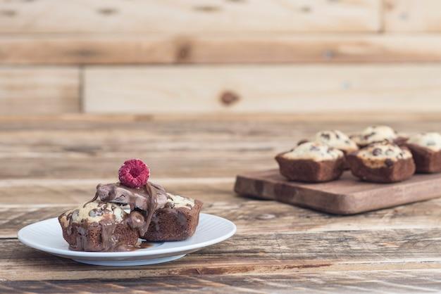 Plätzchenschokoladenkuchen der schokolade handgemacht