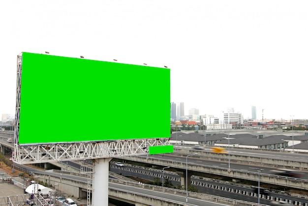 Plakatrohling für außenwerbung auf der autobahn