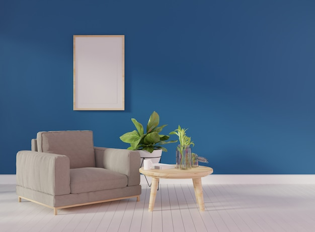 Plakatspott oben mit zwei vertikalen rahmen auf beige wand