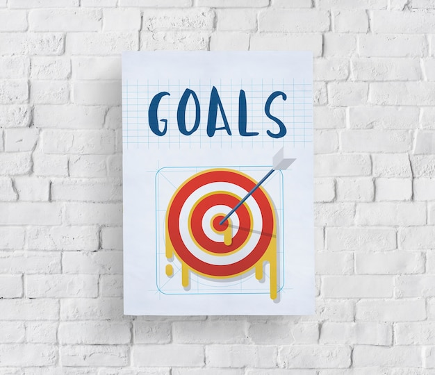Plan-strategie-ziel-ziel-erfolgskonzept