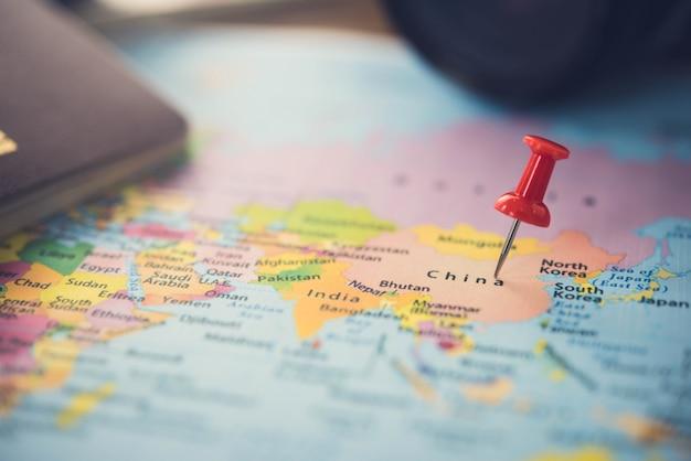 Planen sie eine reise nach china mit einer karte.