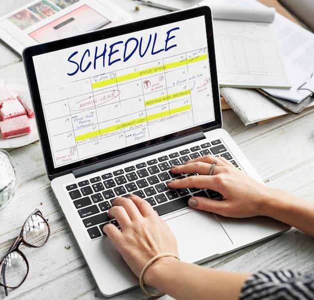 Planer kalender zeitplan datum konzept