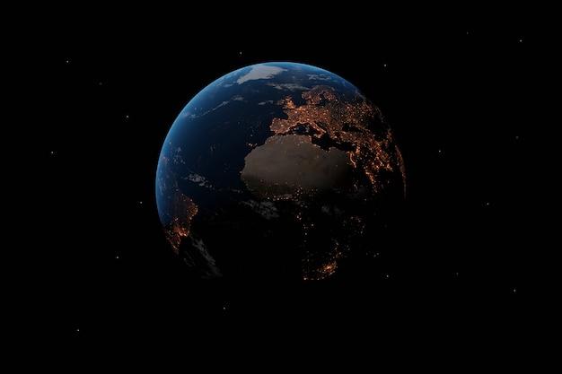 Planet eart wallpaper. 3d-illustration