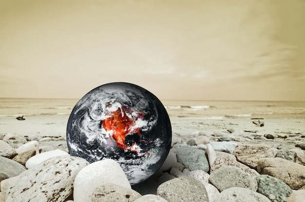 Planet erde in gefahr