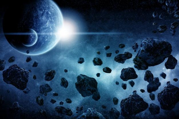 Planet explosion apokalypse