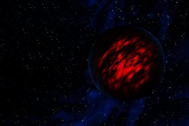 Planet jupiter auf dunklem hintergrund.