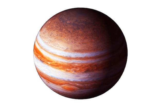 Planet jupiter isoliert auf weißem hintergrund elemente dieses bildes wurden von der nasa bereitgestellt
