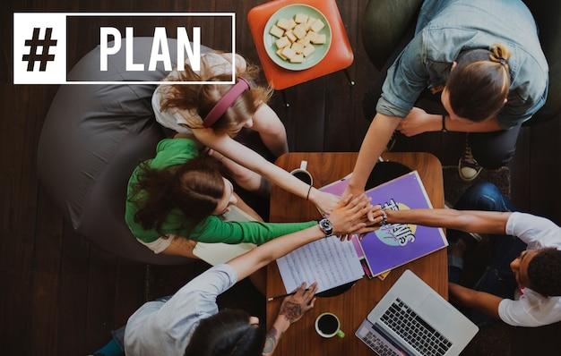 Planungsplan partnerschaft hashtag word