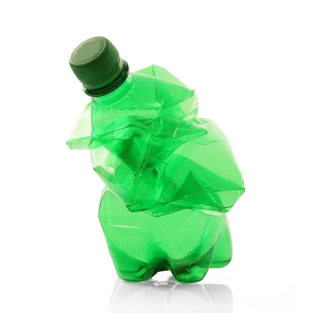 Plastikflasche auf weiß