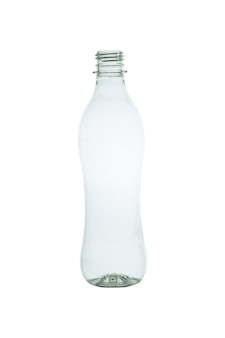 Plastikflasche getrennt auf weiß