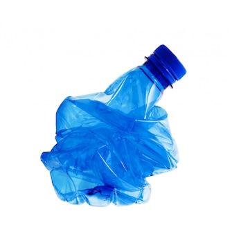 Plastikflasche im weißen hintergrund
