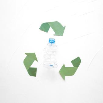 Plastikflasche und recycling-logo