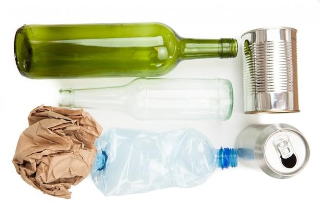 Plastikpapier glas und mineralische wertstoffe