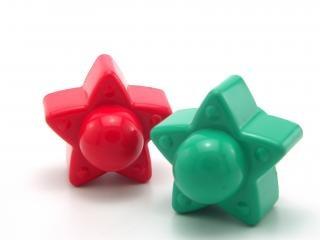 Plastikspielzeug sterne