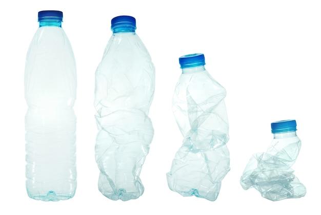 Plastikwasserflaschen. wenn es recycelt werden kann.
