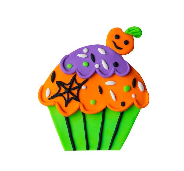 Plastilin handgemachtes handwerk kindisches halloween-illustratin-design