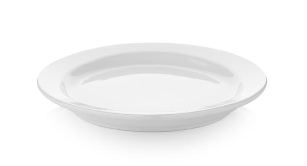 Platte auf weißer wand