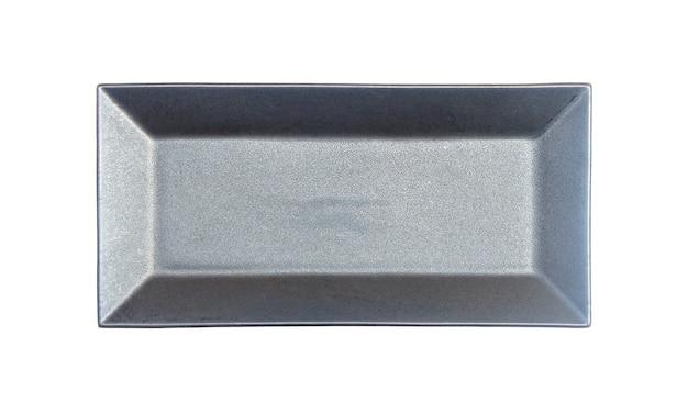 Platte isoliert auf weiß mit beschneidungspfad
