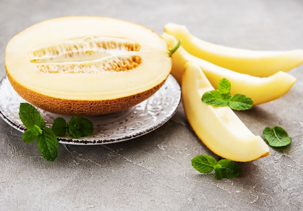 Platte mit melone