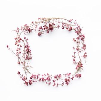Platz von zarten Blumen