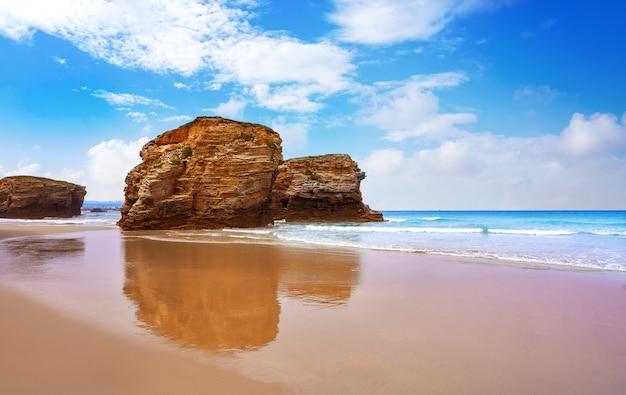 Playa las catedrales catedrais strand in galizien spanien