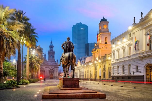 Plaza de las armas platz in santiago, chile
