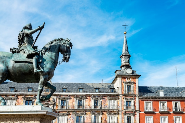 Plaza mayor, madrid, spanien