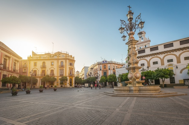 Plaza virgen de los reyes in sevilla