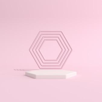 Podium der abstrakten geometrie für die produktpräsentation
