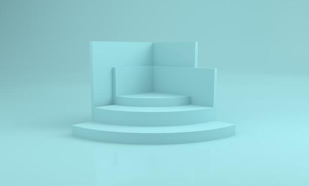 Podium design 3d illustration bühnenbild