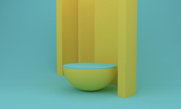 Podium design 3d illustration design gelb