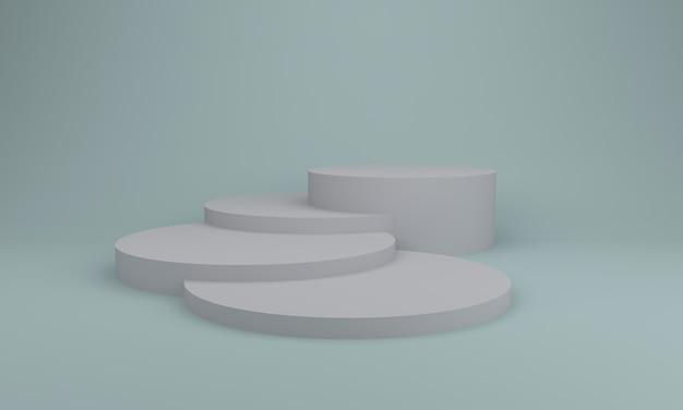 Podium design 3d illustration design grau